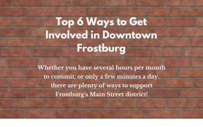 Top 6 Ways to Get Involved in Downtown Frostburg