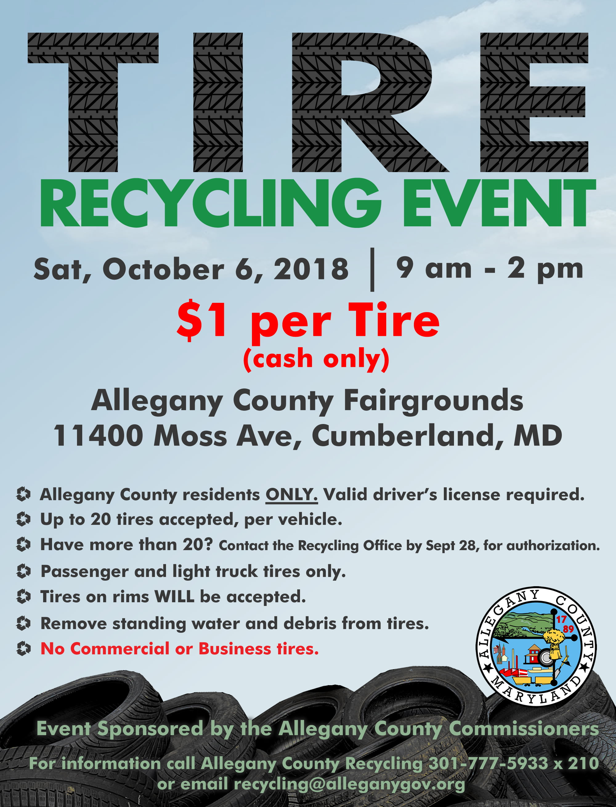 Allegany County Tire Recycling Event