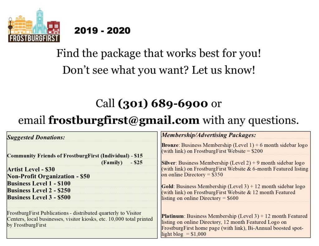 Become a Member - Downtown Frostburg