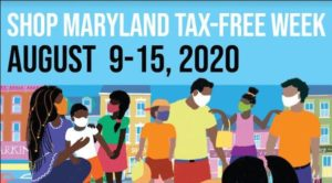 Shop Maryland Tax Free Week, August 9-15