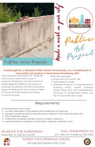 FrostburgFirst Seeks Artist Proposals!